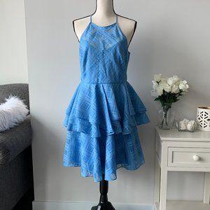 Belle Badgley Mischka Bianca Peplum dress Blue